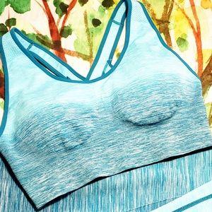 Yelete XL Yoga Bra Teal Ombre NWT